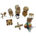 Wooden puzzle game set