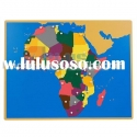 Educational Puzzle Map of Africa, montessori materials