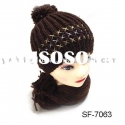 fashion crochet hat scarf set