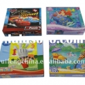 Cartoon animals 48pcs paper jigsaw puzzle box