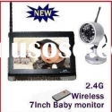 2.4Ghz 7'' color TFT LCD Wireless IR night vision Camera Baby Monitor AV transmitter
