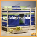 loft bed with slider, tent