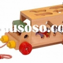 Animal shape sorter pull-along toy/geometric sorting block/sorter shape puzzle/shaped sorting toy/wo