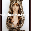 FUNNY LEOPARD CARTOON PLUSH ANIMAL HEAD HAT WINTER ANIMAL HATS