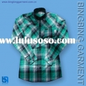 fashion green check shirt
