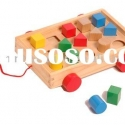 Geometric shape sorter pull-along toy/geometric sorting block/sorter shape puzzle/shaped sorting toy