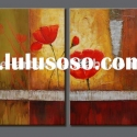 Decoration canvas red flower oil painting wall art