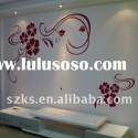 Red flower home decoration wall sticker