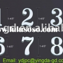 Solar house plate number/address number letter