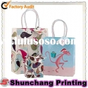 Fashionable paper shopping bag for clothes