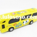 Cute friction solid plastic toy bus