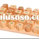 wooden alphabet sorter puzzle/wooden alphabet sorting block/wooden alphabet learning toy/wooden educ