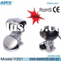 6 LED light webcam,USB 2.0 webcam,driveless PC webcam,Y201,plastic materials,COMS chipset pc camera,