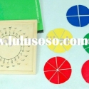 Montessori Educational Toys Circle Fraction Geo Board