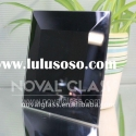 black painted glass