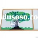 montessori equipment -Wooden Apple Tree Game&amp;kid toy