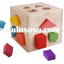 wood shape sorter with blocks