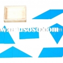 Montessori woden educational toy -Constructive Blue Triangle