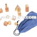 Montessori woden educational toy -systery bags,geometric shapes