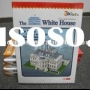 white house 3d puzzle, building paper model