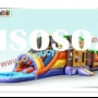 Hot selling inflatable castle combo slide/professional water slides