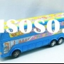 plastic cartoon friction toy bus