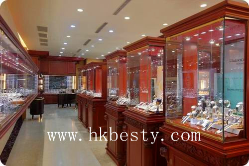 jewelry and watch display cabinet showcase with LED lights as jewelry store furniture(BT003)