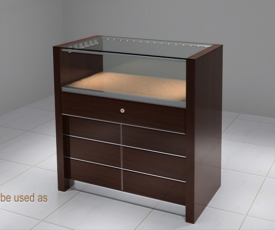 High quality and fashion jewelry display counter showcase with LED lights(DM1301L-1)