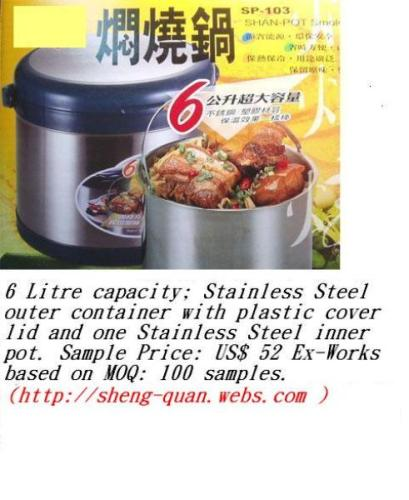 Non-Electric Energy Saving Stainless Steel Thermal Cookers
