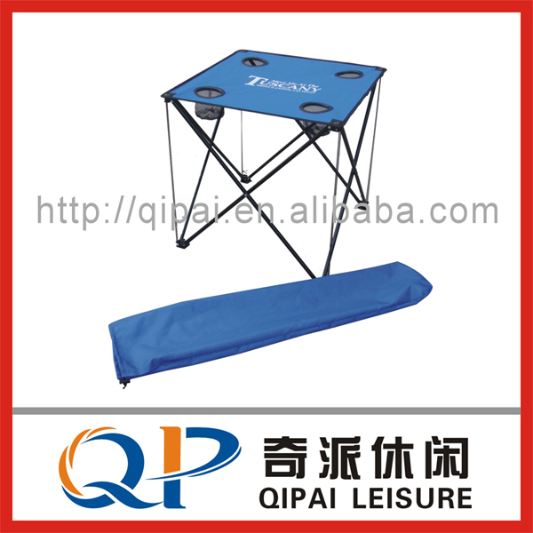 Folding table/ camping table/beach table , with net cup holders