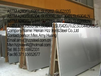 stainless steel ASTM A240/SUS 304, ASTM A240/SUS 304L, ASTM A240/SUS 304N,ASTM A240/SUS 304LN