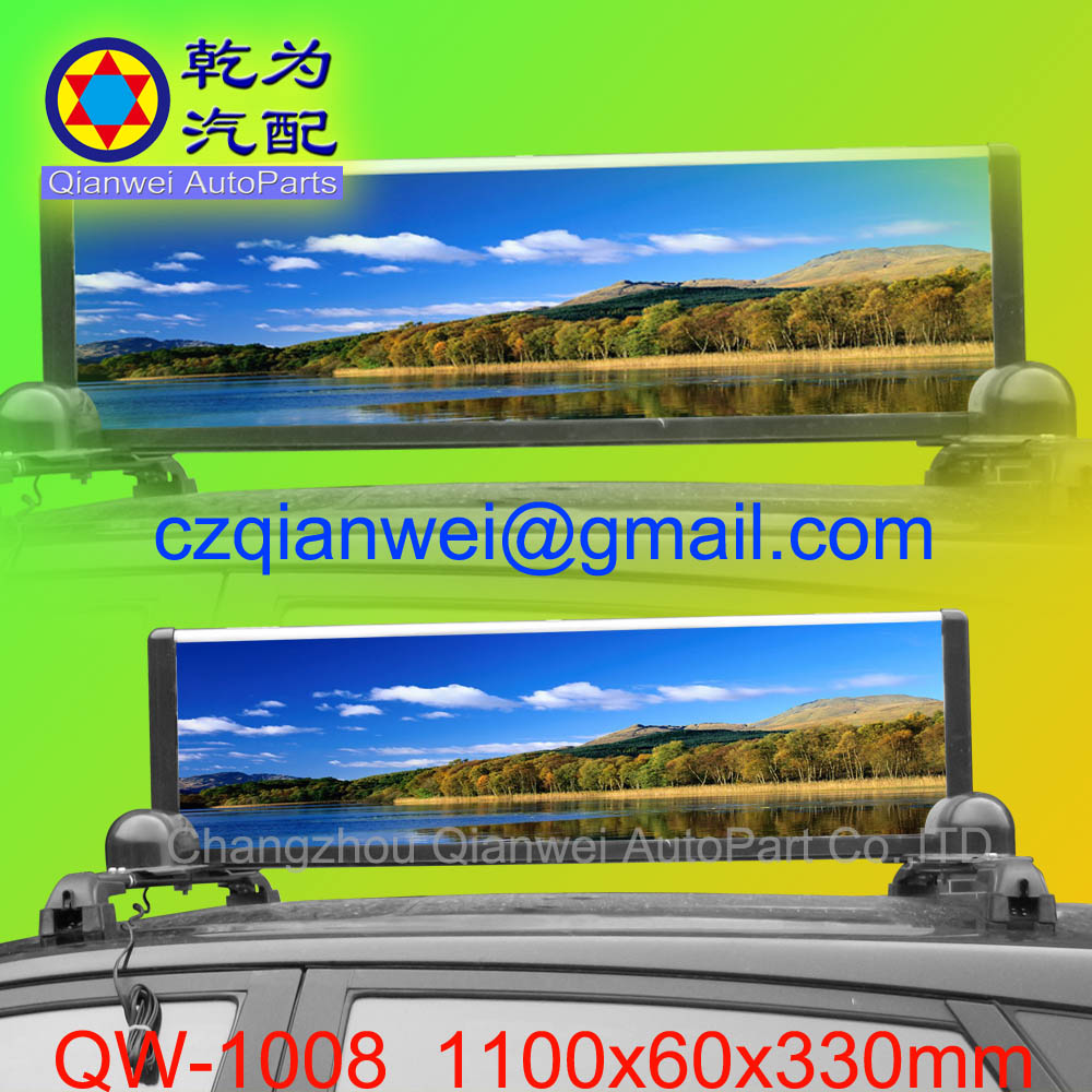 car advertising signs,car billboard advertising,car dome light