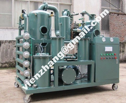 Used transformer oil filtration system, purification and dehydration