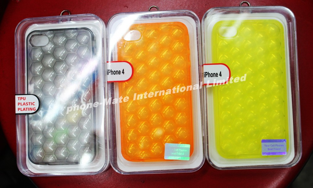 Durable clear hard cases for 4gs iphone