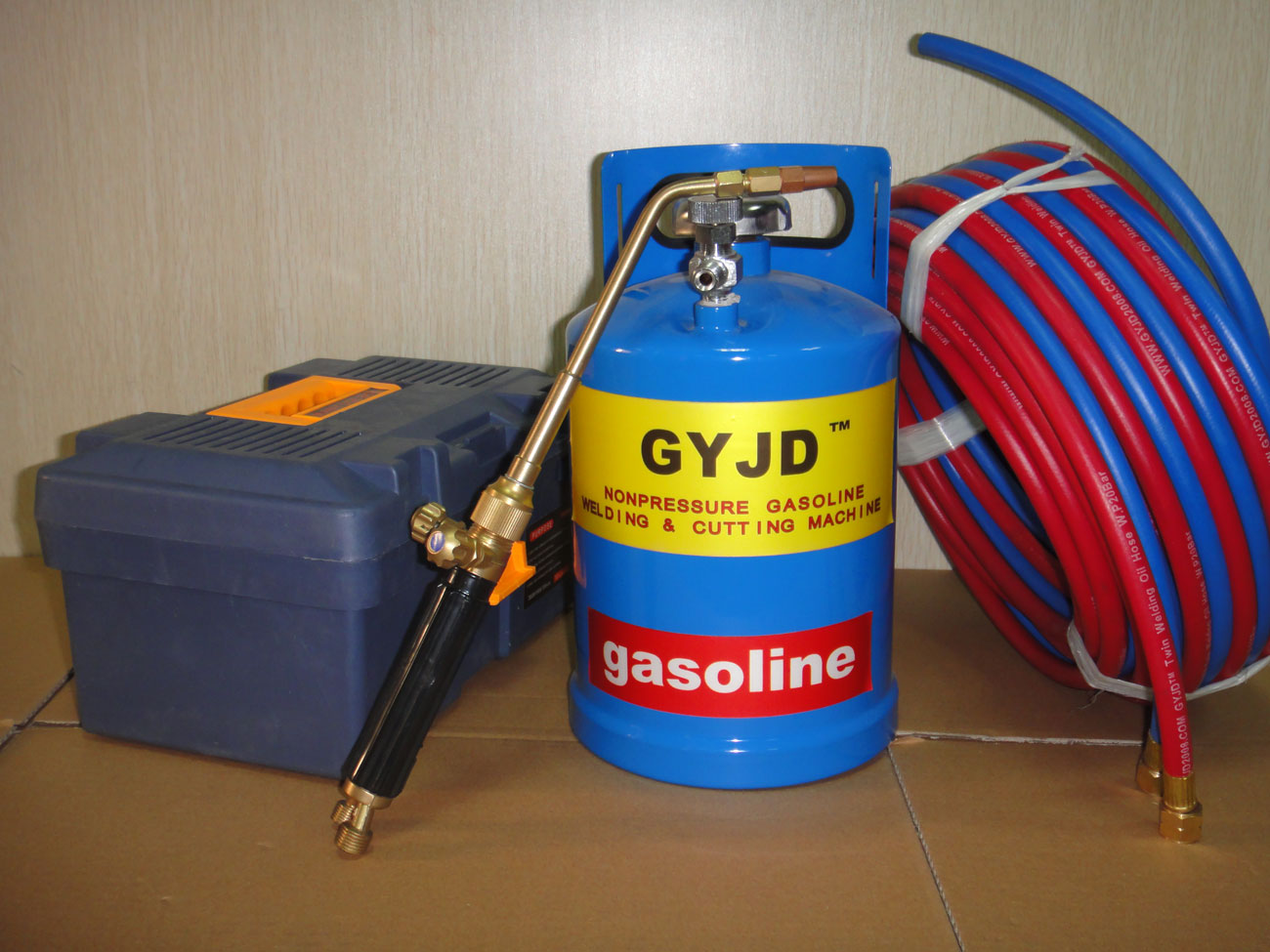 fuel-saving oxy-gasoline welding torch system (equipped with 3L gasoline tank
