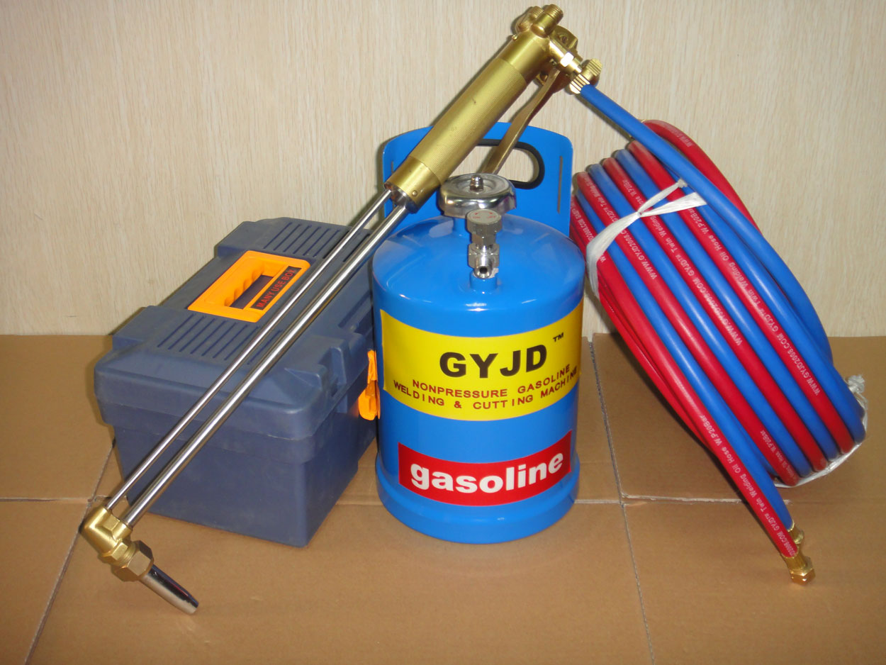 lever type oxy-gasoline cutting torch system equipped with 3L gasoline tank