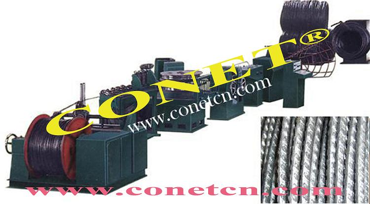steel wire cold rolling and ribbing machine