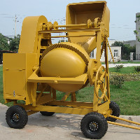 portable concrete mixer with hopper TDCM200-7D
