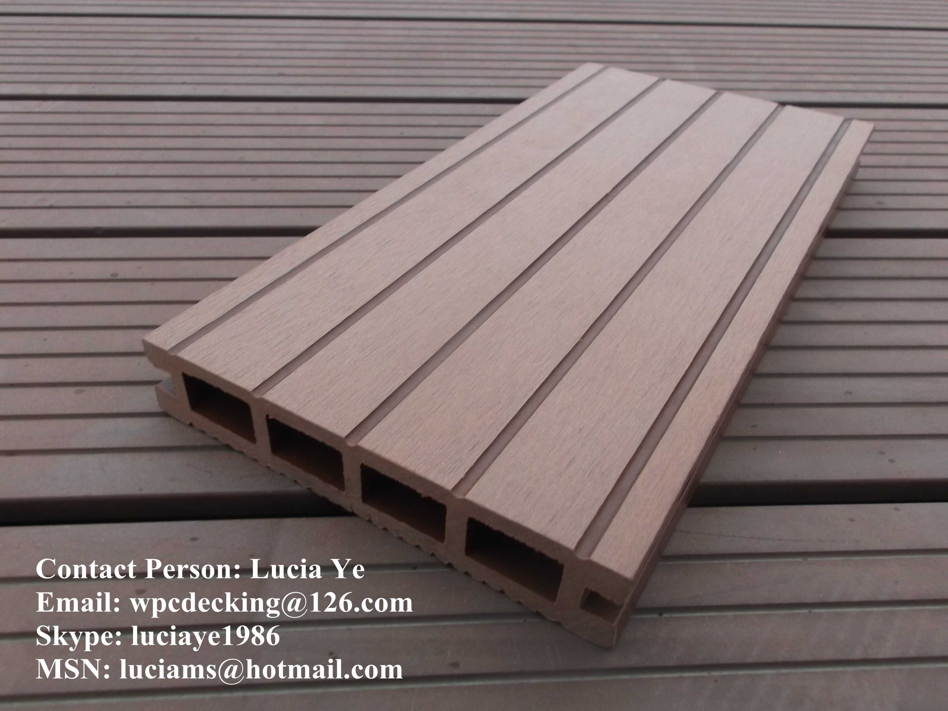 Wood Composite Panel : Building material wood plastic composite wall panel for