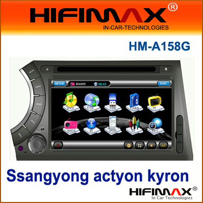 7'' Car DVD GPS Headunit car radio For Ssangyong actyon kyron