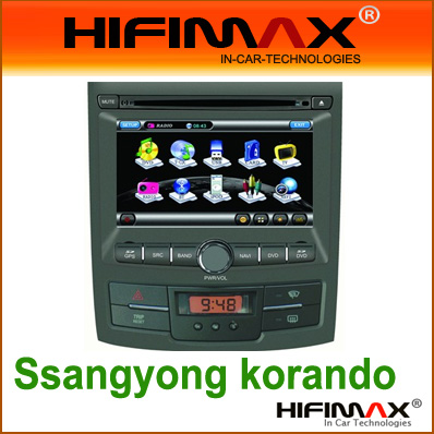 7'' Car DVD GPS car radio, auto navigation for Ssangyong korando
