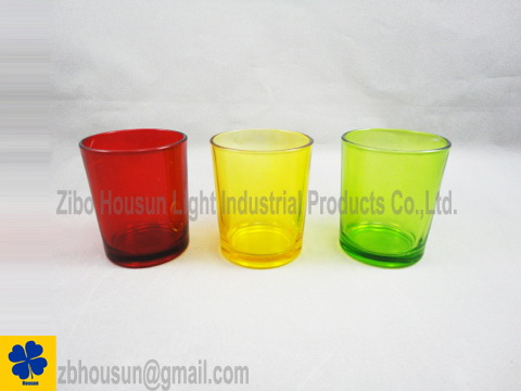 Clear Color Glass Candle Holder www.ihomeacc.com
