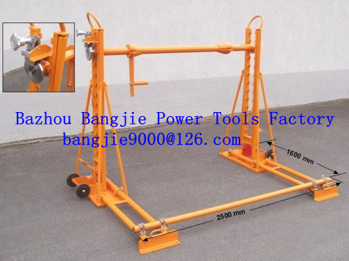 cable drum stands,hydraulic cable jacks,cable drum lifting