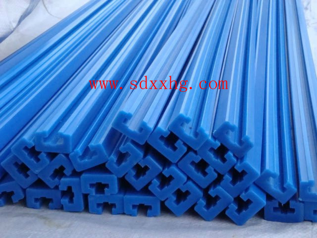 Blue UHMWPE guide rail for engineering with best quality