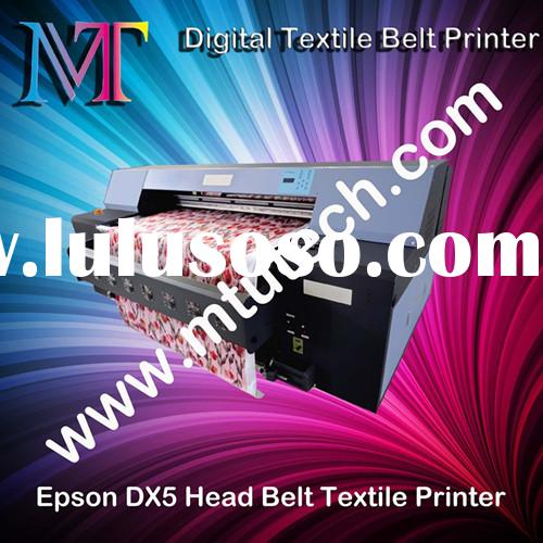 Belt Textile Printer With 2 Pieces Epson DX5 Print Head 1440dpi