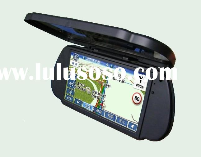 Car Rearview Mirror GPS Navigation System, 7 inch TFT LCD Rearview Mirror Car Kit (GPS-1170)