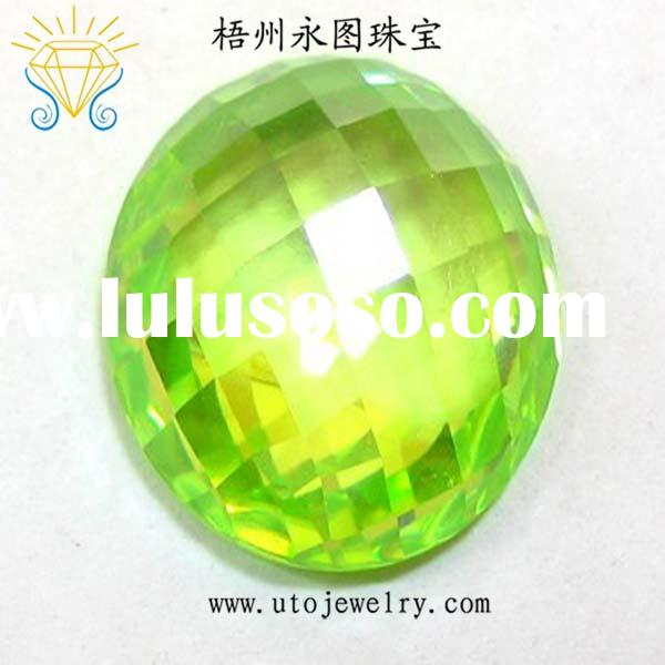 loose cubic zirconia beads checkerboard cut