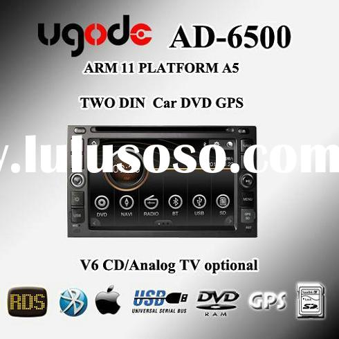 Universal two din car audio DVD GPS player AD-6500