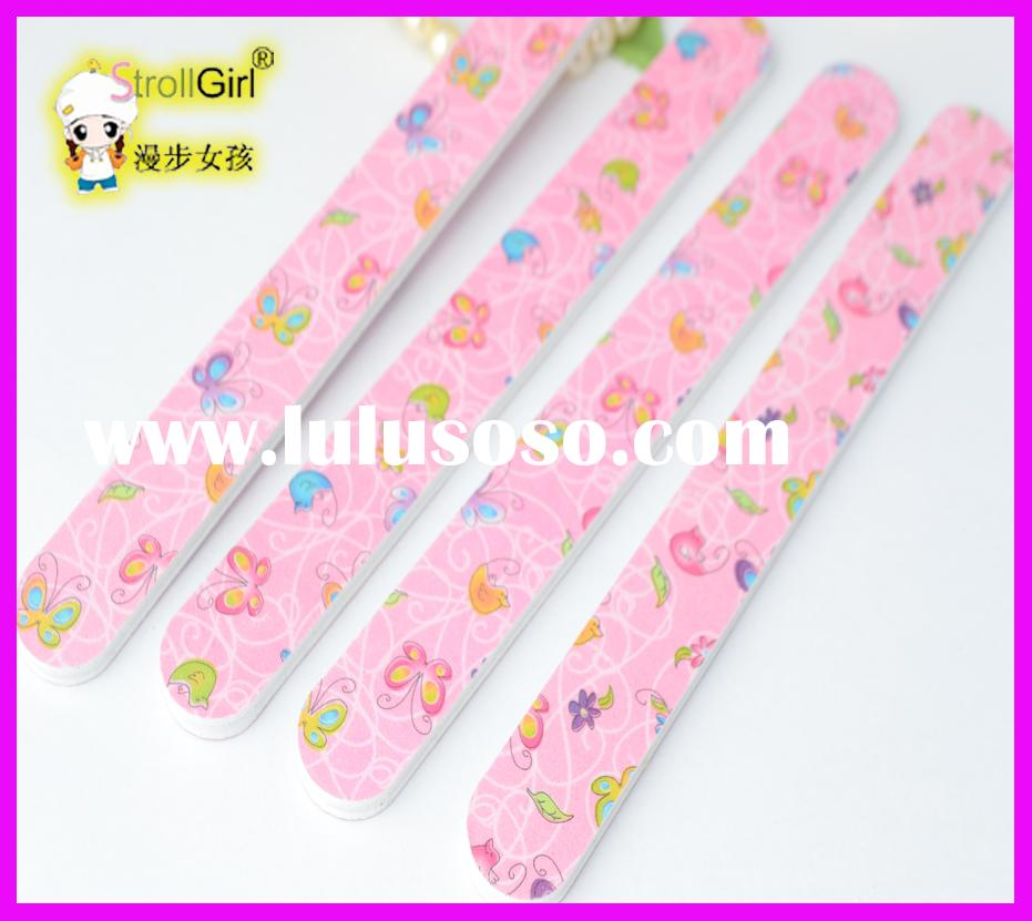 Wholesale Custom Promotion Nail File Emery Board Sandpaper Printing NAIL FILE MANUFACTURE/FACTORY