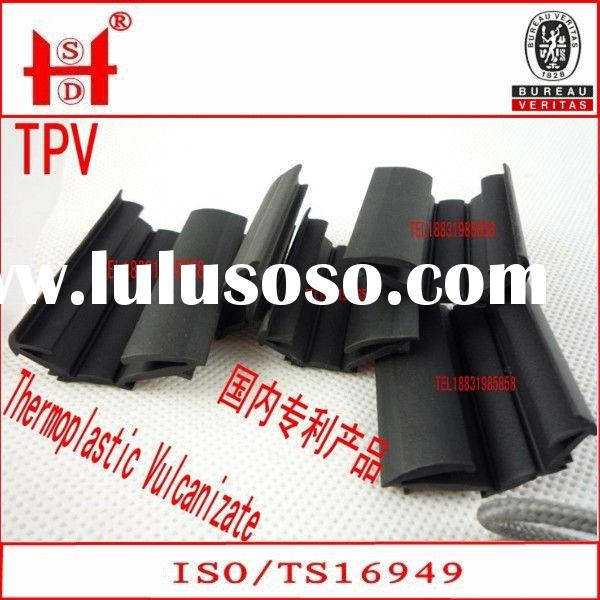 Extruded EPDM glass rubber seal